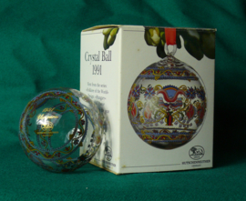 1991 Kerstbal kristal Hutschenreuther