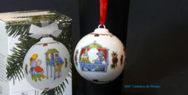 1987 Kerstbal porselein, Hutschenreuther