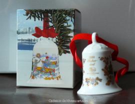 1984 Kerstklokje porselein, merk Hutschenreuther