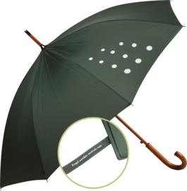Paraplu Wendt & Kuhn met 11 stippen kleur Groen