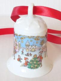 1987 Kerstklokje porselein merk Hutschenreuther ZONDER DOOSJE !