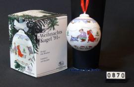 1991 Kerstbal porselein, Huschenreuther