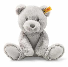 241543 Baby vriendjes Bearzy Teddybeer grijs 28 cm