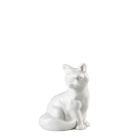 model Figuur Vos zittend wit porselein