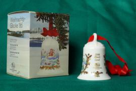 1986 Kerstklokje Hutschenreuther porselein