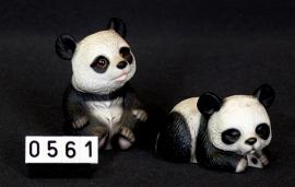 Panda's  2 delig set