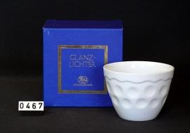 model Waxinelicht   Porselein ( schijnt door )