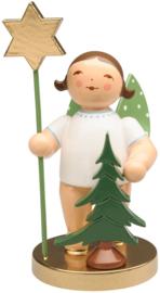 105 jaar Jubileum Engel met boom en ster,