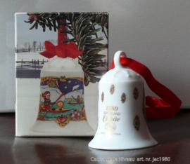 1980 Kerstklokje porselein merk Hutschenreuther