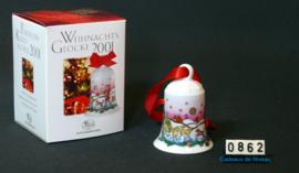 2001 Kerstklokje porselein, Hutschenreuther