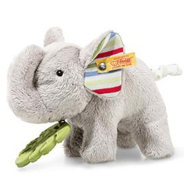 242021 Steiff Wild Sweeties Timmi Elefant mit Bijtring en Knisperfolie, 17 cm