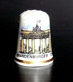 Vingerhoedje Brandenburger Tor porselein