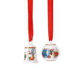 2019 Kerstklokjes mini porselein