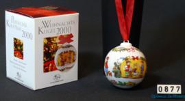 2000 Kerstbal Porselein, Hutschenreuther