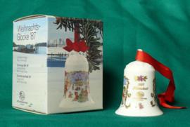 1987 Kerstklokje Hutschenreuther  porselein