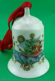 1982 Kerstklokje porselein merk Hutschenreuther ZONDER DOOSJE !
