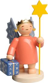 6235/1 Kroon Engel met ster en pakket 8 cm