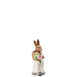 model Hazenvrouw met mand eieren  Hutschenreuther