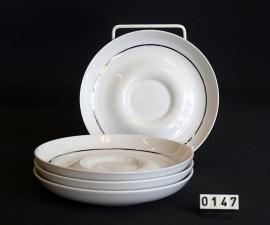 model Tavola zilver lijn 6 schotels voor koffiekop