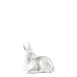 Hutschenreuther- Bambi liggend wit porselein