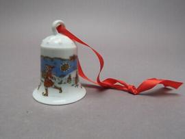 1990 Kerstklokje porselein merk Hutschenreuther ZONDER DOOSJE !