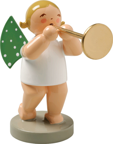 650/15 Orkest : Engel met Fanfare trompet 6 cm