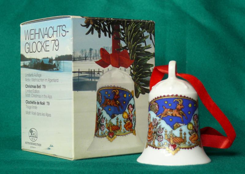 1979 Kerstklokje porselein merk Hutschenreuther
