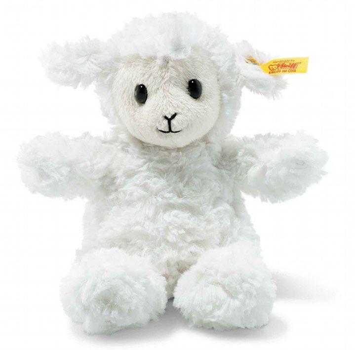 073403  ( Soft Cuddly friends ) Fuzzy Lam, wit 18 cm