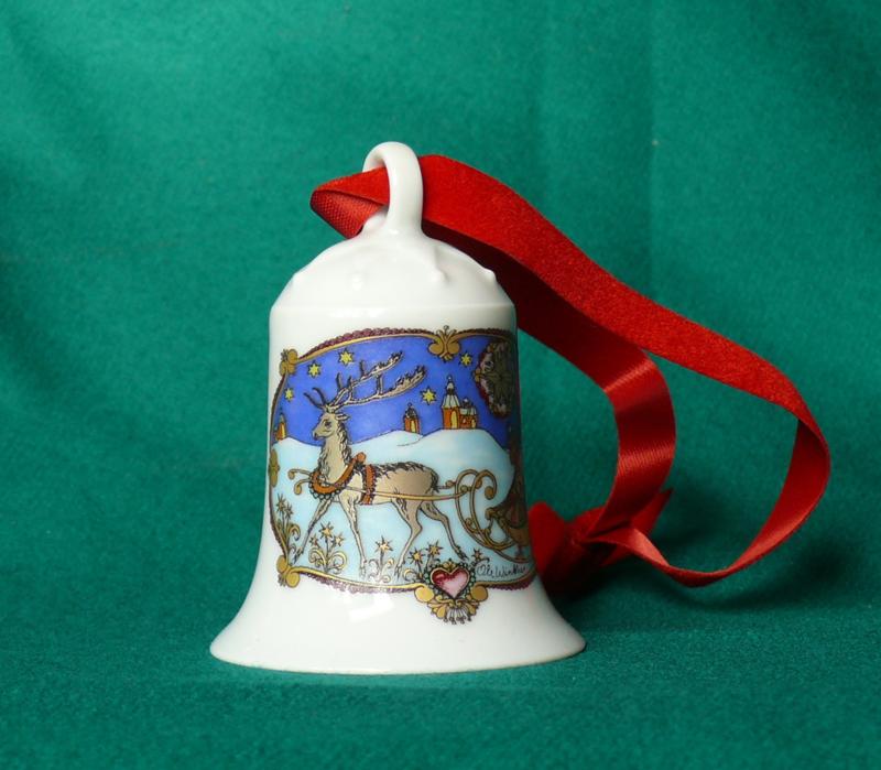 1978 Kerstklokje Hutschenreuther  porselein