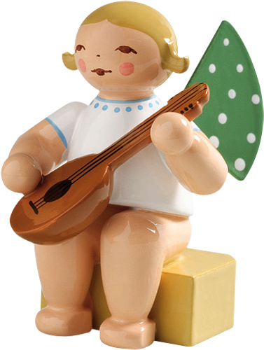 650/k/4a Engel, klein/ met mandoline 4 cm