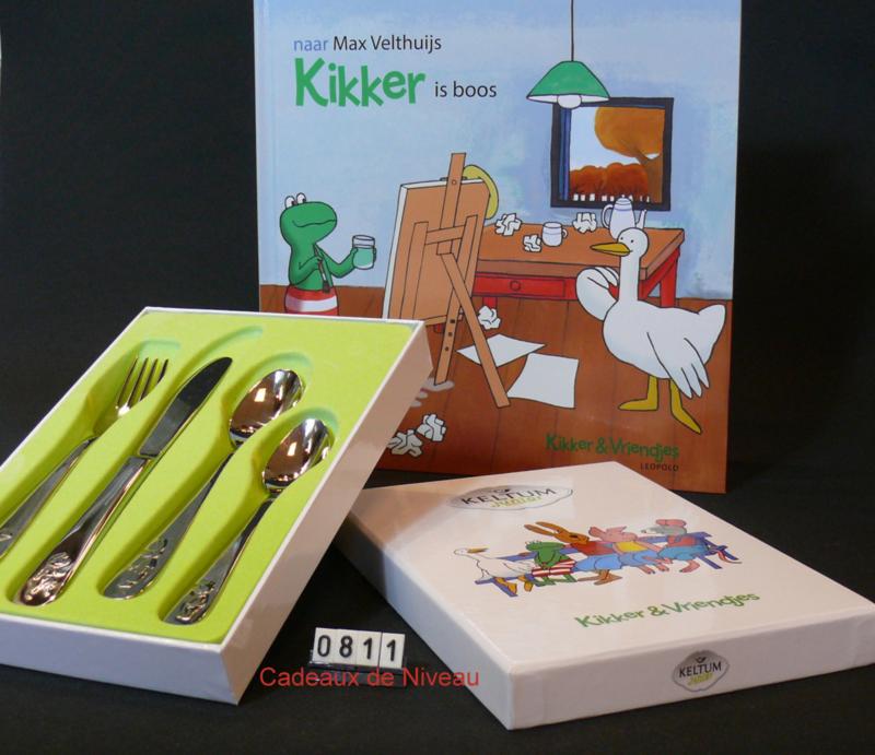 Kinderbestek 4 delig - model: Kikker merk: Keltum