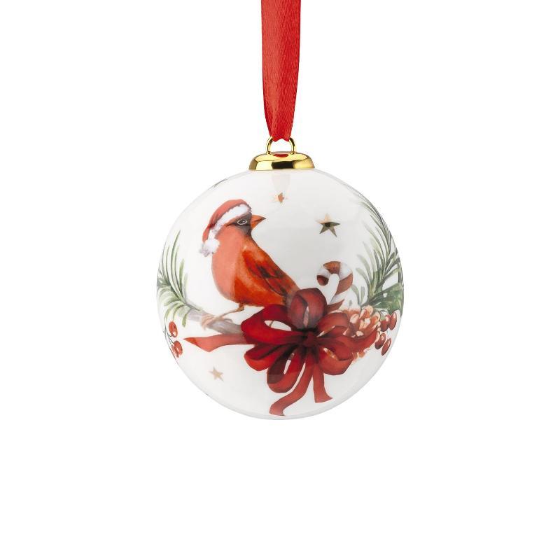 2019 Kerst / Winter Hutschenreuther Bal (Kardinaal vogel)