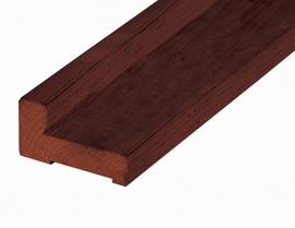 Fundamentbalk 4,5 x 8,5 x 300 cm Hardhout