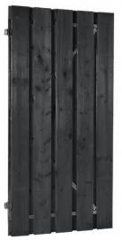 Plankendeur 100 x 190 cm Zwart geïmpregneerd