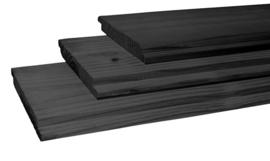 Halfhouts rabat 1,8 x 19,5 x 300 cm Zwart geïmpregneerd vuren