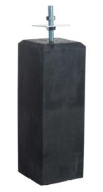 Betonpoer antraciet 18 x 18 x 50 cm met verstelbare plaat