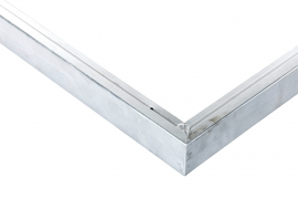 Hoekstuk voor daktrim aluminium 30 x 30 cm