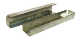 U-profiel voor dubbele betonplaat hoek of muur (38 cm)