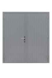 Dubbele dichte deur grijs gegrond