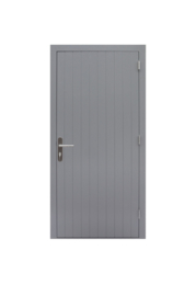 Enkele dichte deur grijs gegrond Rechtsdraaiend
