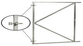 Poortframe verstelbaar (H) 80 x (B) 100