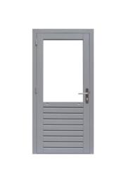 Enkele glasdeur grijs gegrond Linksdraaiend