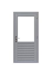 Enkele glasdeur grijs gegrond Rechtsdraaiend