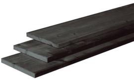 2,1 x 20 x 100 cm plank fijnbezaagd Zwart gedompeld Douglas