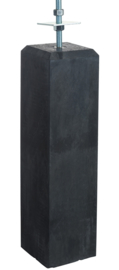 Betonpoer antraciet 15 x 15 x 60 cm  met verstelbare plaat