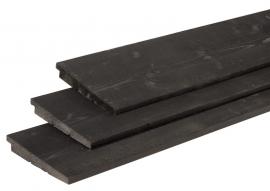Zweeds rabat 1,1 - 2,7 x 19,5 x 300 cm Zwart gedompeld Douglas