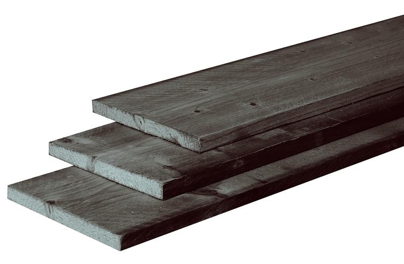 2,1 x 20 x 500 cm plank fijnbezaagd zwart gedompeld
