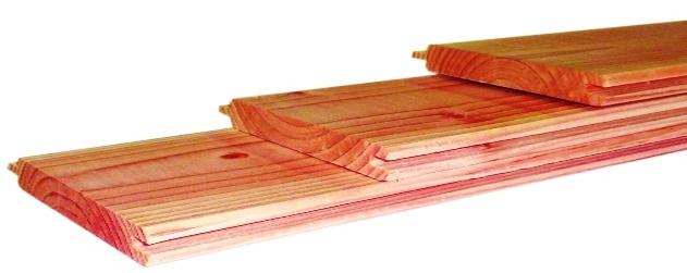 Dakbeschot met veer en groef 1,6 x 11,6 x 400 cm
