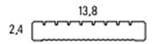Douglas vlonderplank geprofileerd 2,4 x 13,8 x 300 cm Blank