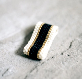 SIDAI DESIGNS ring/black-gold-ivory